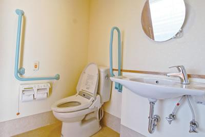 アビリティーズコート府中 手すりの付いたトイレ