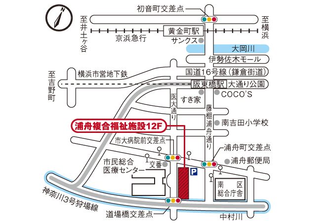 アビリティーズ・デイサービス浦舟 周辺地図