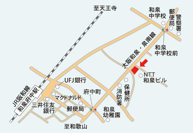 アビリティーズ和泉府中店 周辺地図