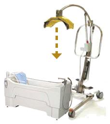 浴室内での使用可能な 入浴用床走行型リフト マルチリフト