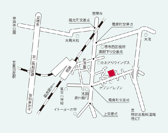 生活リハビリデイセンター アビリティーズ堺おおとり 周辺地図