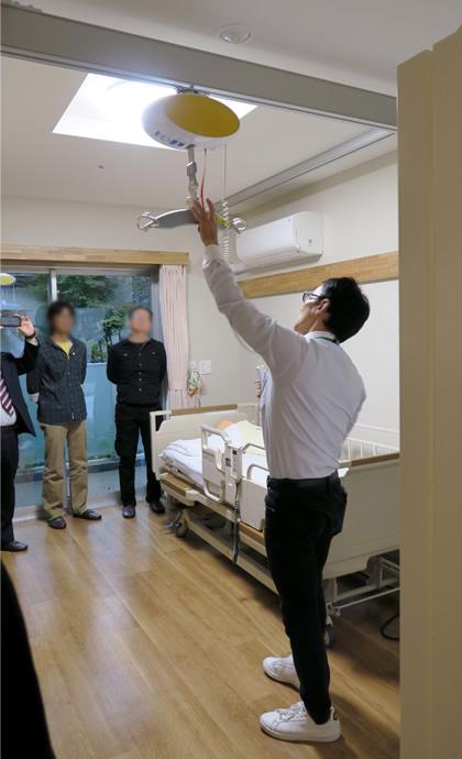 清瀬療護園見学 ベッド移乗と居室内移動が乗換えなしでフリーアクセス